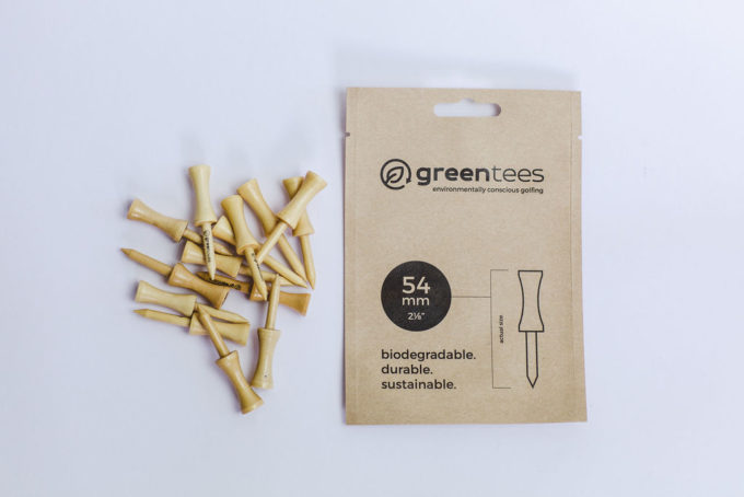"""54mm 2 ⅛"""" Castle / Graduated Wooden Biodegradable Golf Tees"""