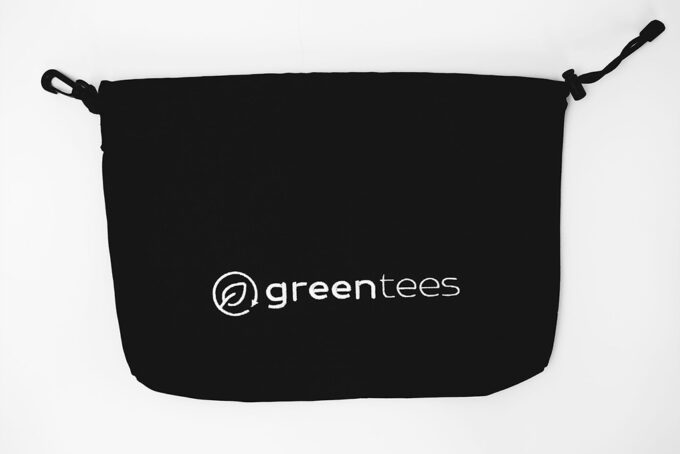 green tees large valuables bag